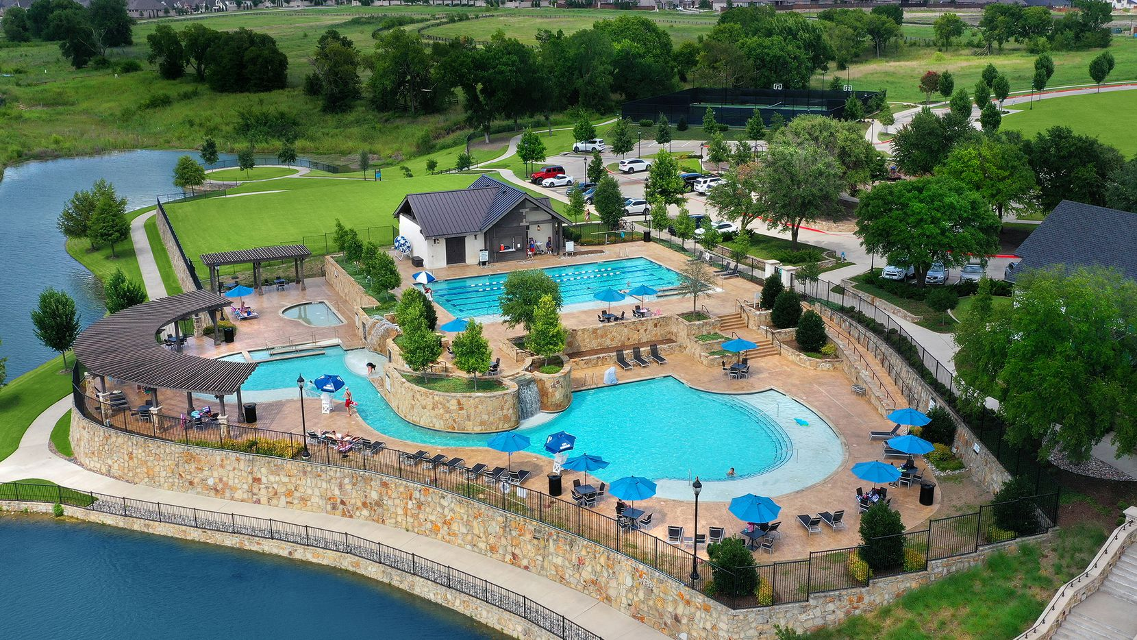 Mustang Lakes, Celina's master-planned community by Cambridge Companies, offers new homes priced from the $500s to $2 million-plus.