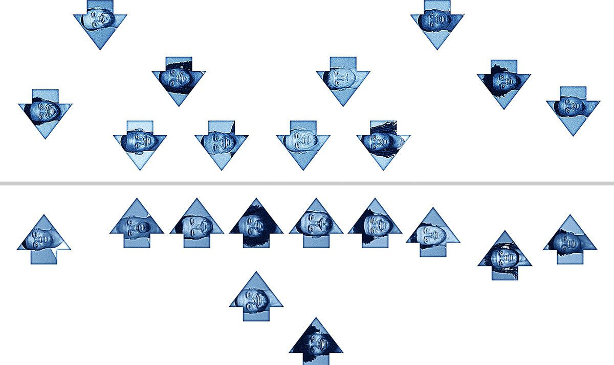An illustration of the Cowboys' projected starters on offense and defense.