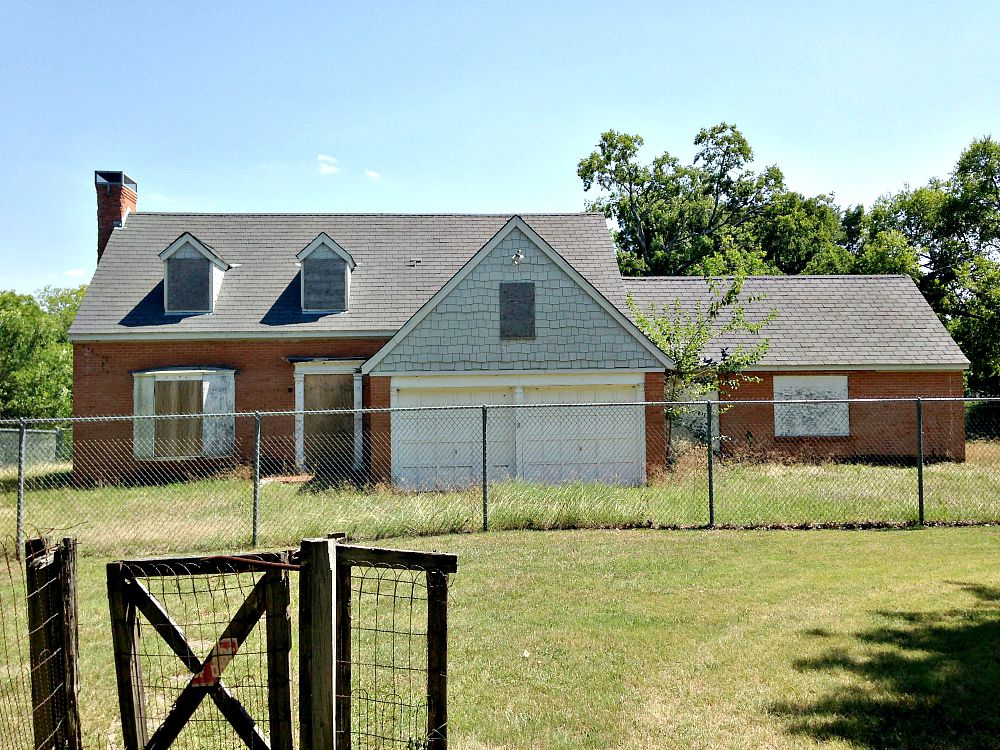 This is the house W.W. Samuell was building when he died in 1937. (Robert Wilonsky/Staff)