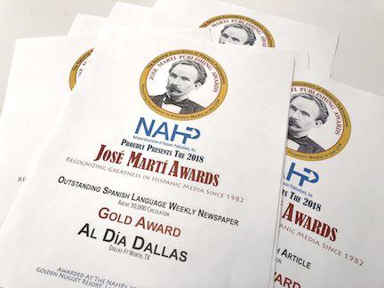 El reconocimiento para Al Día de parte de la Asociación Nacional de Publicaciones Hispanas. DMN