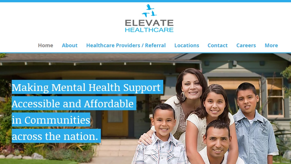 This screenshot of Elevate Healthcare's web site shows how the company touted its services.
