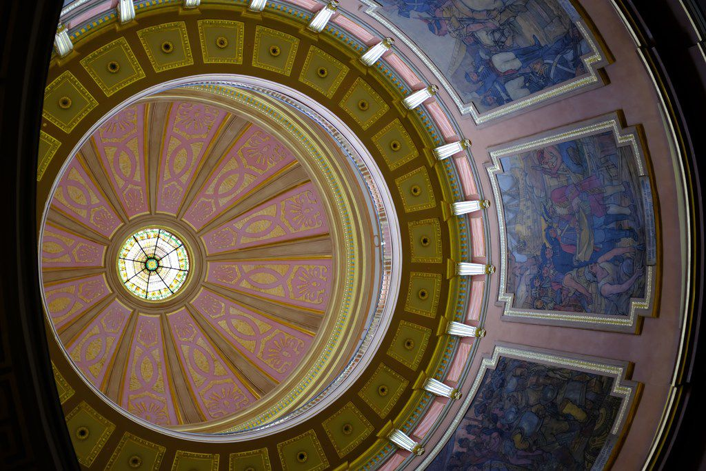 The resplendent dome of the Alabama State Capitol, in Montgomery
