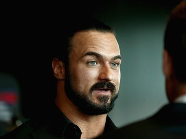 Drew McIntyre speaks during a WWE Downunder media opportunity at Crown Entertainment Complex on October 4, 2018 in Melbourne, Australia.