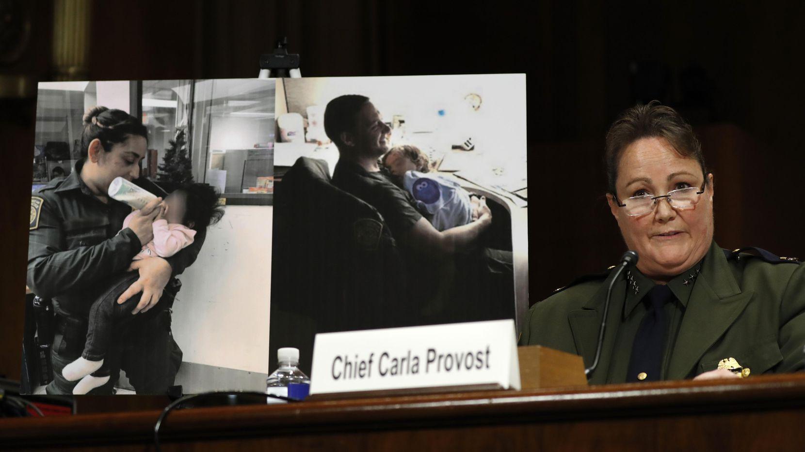 La jefa de la Patrulla Fronteriza Carla Provost testificó ante el Congreso el miércoles. (AP/Jacquelyn Martin)