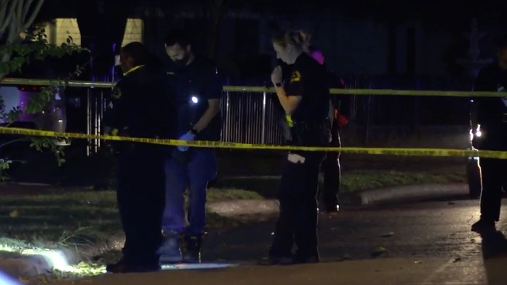 Dallas police investigate the shooting death of Alfredo Navarette, 18, in the 1300 block of Celeste Drive on Friday.