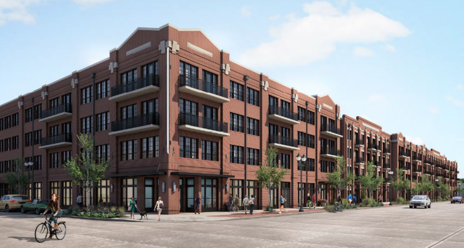 The Kilby apartments in Frisco Square are being built by B/K Multifamily teamed up with Toll Brothers Apartment Living..