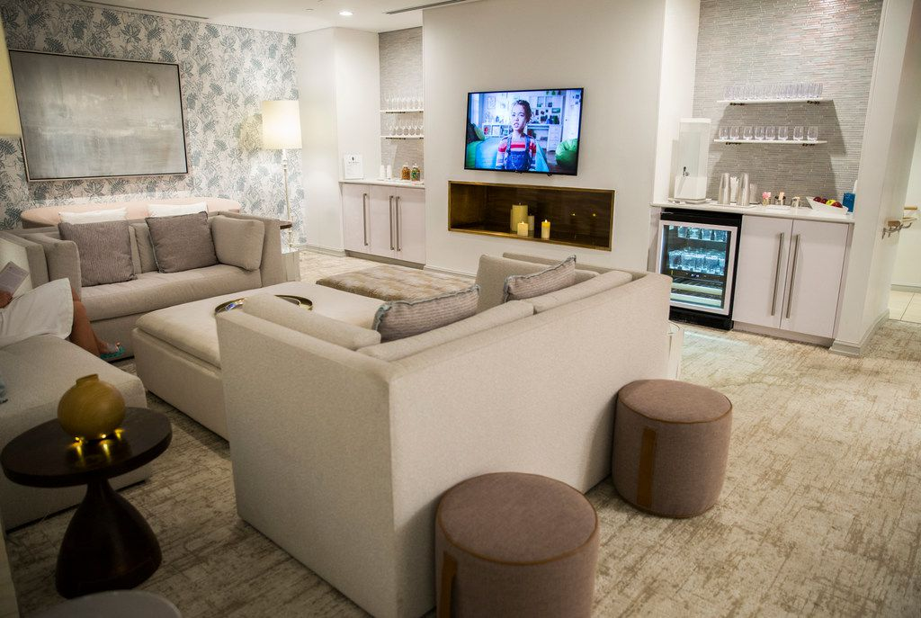 The Women's Lounge at the spa at Hotel Crescent Court in Dallas on Monday, June 18, 2018. The hotel was recently renovated. (Ashley Landis/The Dallas Morning News)