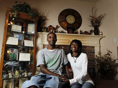 Corey Borner and his mother Charlotte Borner at their home in DeSoto, TX on May 15, 2013. Corey was paralyzed in a football practice in the spring of 2009. (Kye R. Lee/The Dallas Morning News)