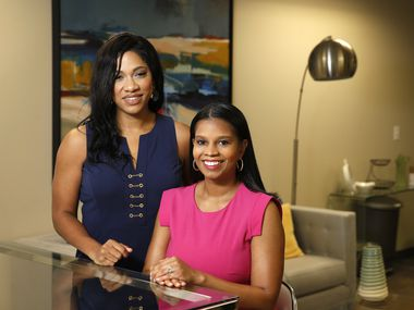 Star Carter (left) and Mandy Price abandoned legal careers to launch Kanarys, a Dallas-based diversity and inclusion technology startup.