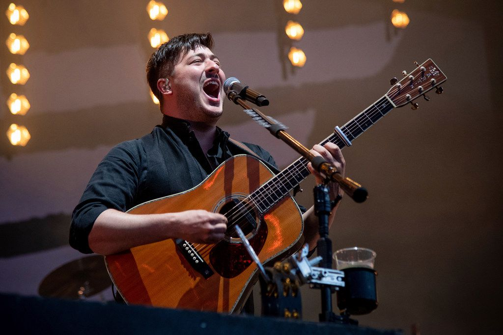 Marcus Mumford of Mumford & Sons performs at the BottleRock Napa Valley Music Festival at Napa Valley Expo on Sunday, May 26, 2019, in Napa, Calif. (Photo by Amy Harris/Invision/AP)