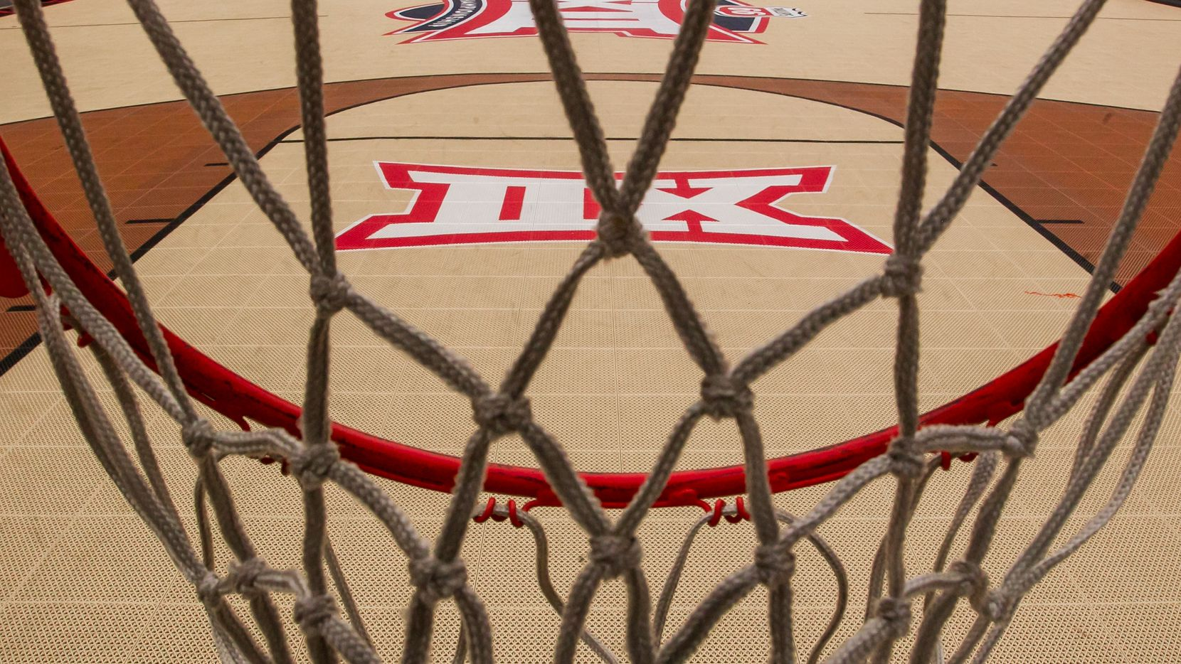 KANSAS CITY, MO - MARCH 12: An open basketball court apart of the Big 12 fan experience sits empty due to the cancellation of the Big 12 Tournament to prevent the spread of the Coronavirus (COVID-19) prior to the game between the Texas Tech Red Raiders and the Texas Longhorns, on Thursday March 12, 2020 at the Sprint Center in Kansas City, MO.  (Photo by Nick Tre. Smith/Icon Sportswire via Getty Images)