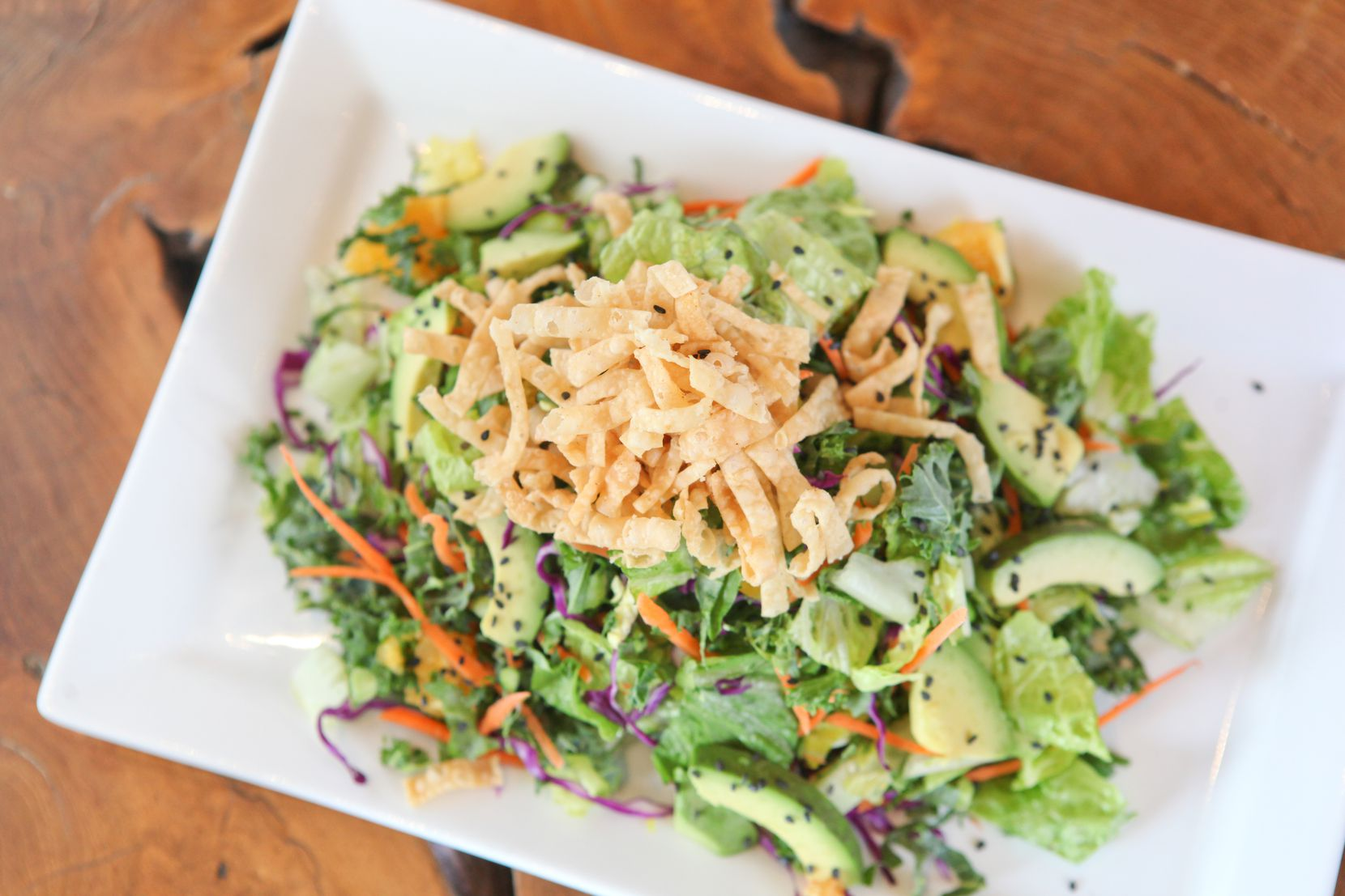 Dive Coastal Cuisine's crunchy Asian salad is available to order to-go this Mother's Day.