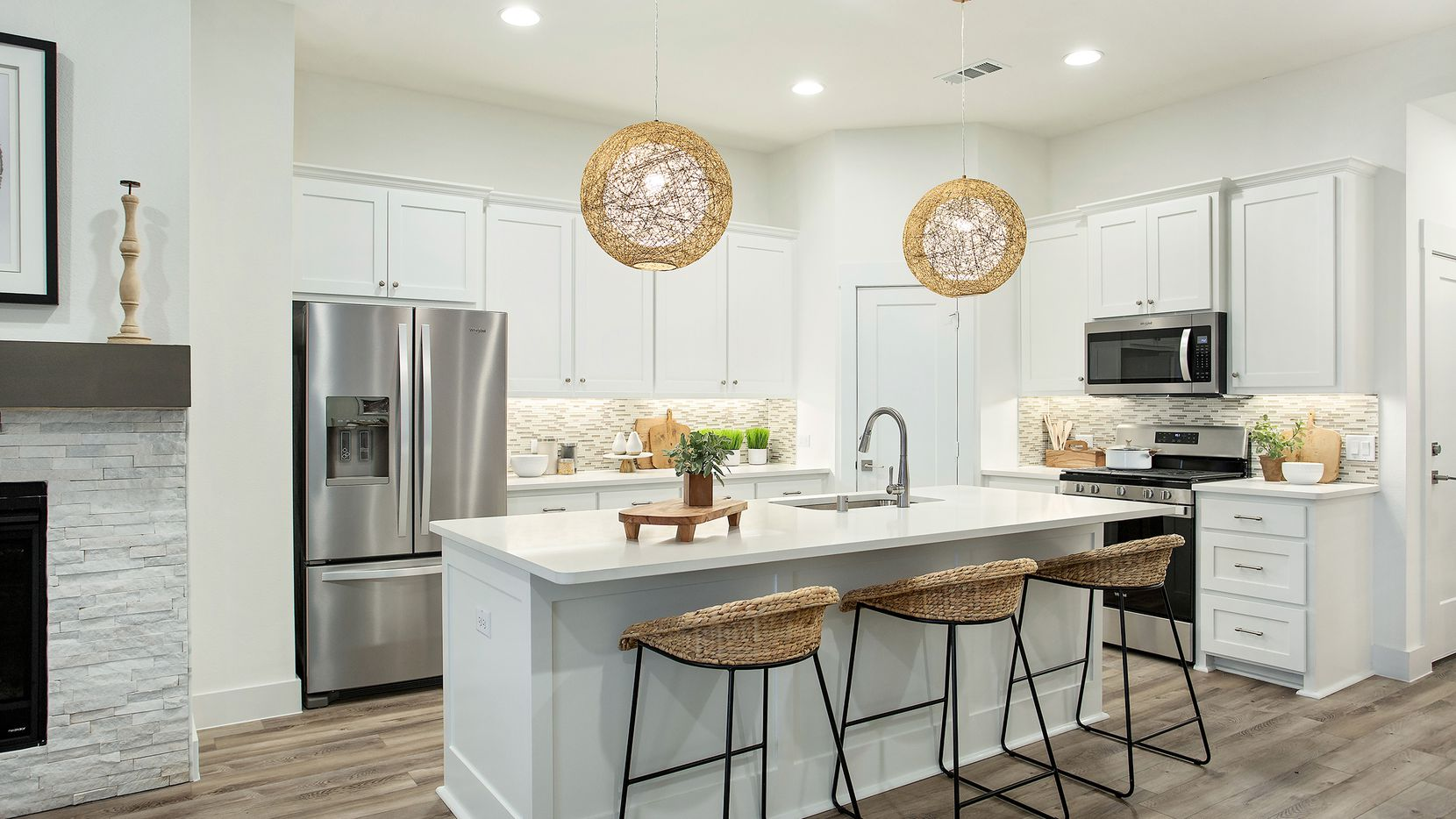 Move-in-ready villas by Grenadier Homes are available now, priced from the mid-$200s, in Riverset, a new master-planned community in Garland.