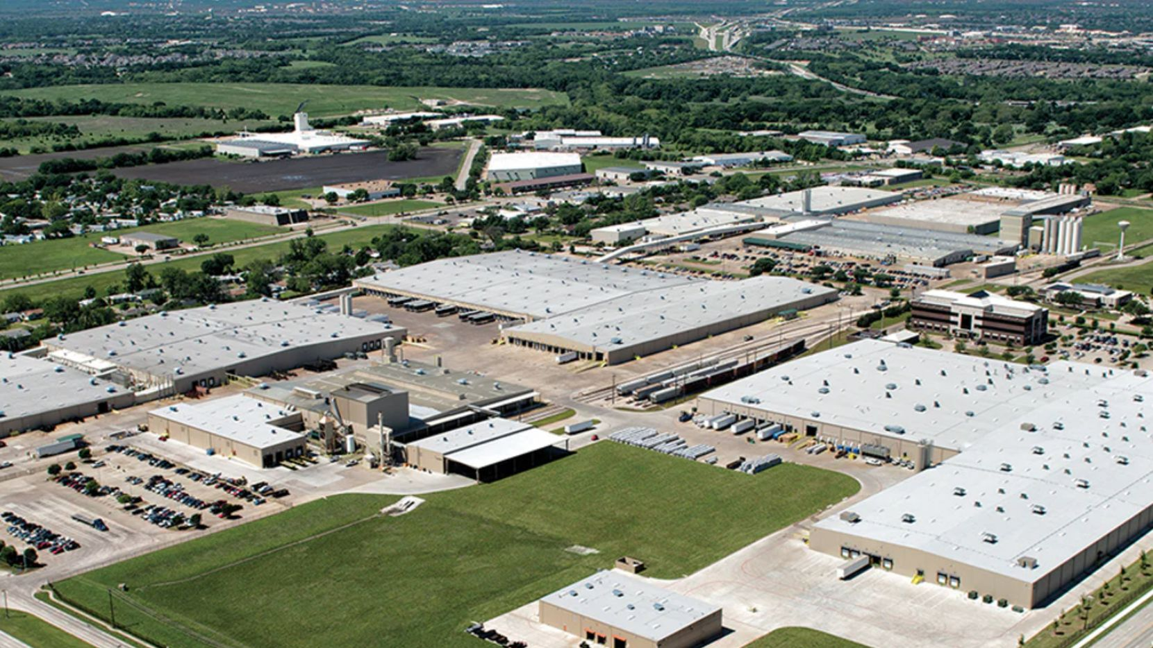 Encore Wire has almost 400 acres for its office and manufacturing complex in McKinney.