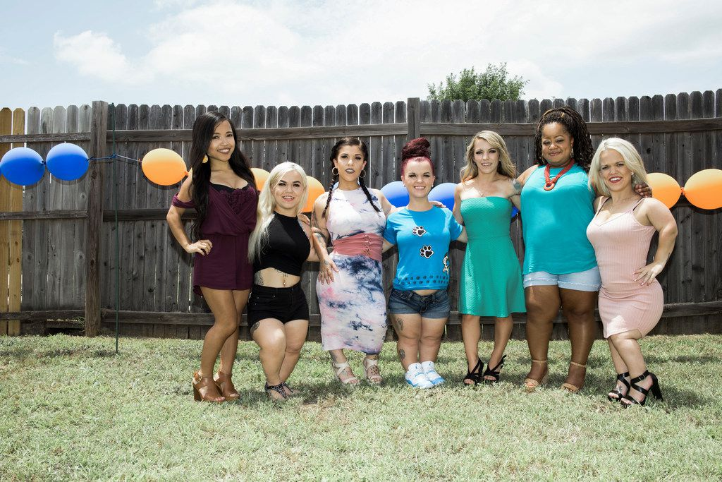 "(L to R) Asta Young, Caylea Woodbury, Emily Fernandez, Bri Barlup, Amanda Loy, Brichelle Humphrey and Tiffani Chance starred in Lifetime's ""Little Women: Dallas."" The show will not return for a new season."