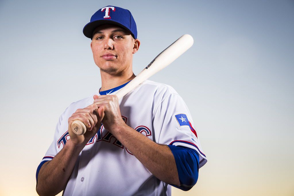 Texas Rangers infielder Drew Robinson photographed during spring training photo day at the team's training facility on Sunday, Feb. 28, 2016, in Surprise, Ariz.