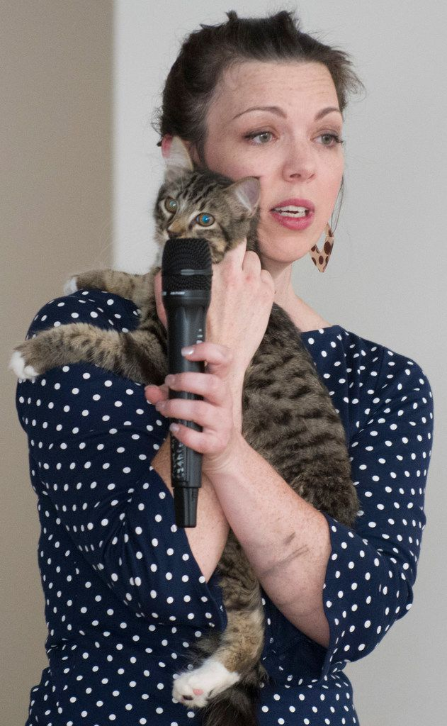 Josephine Durkin of Texas A&M University-Commerce with her cat Lester.