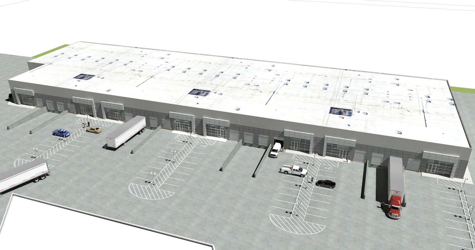 The multi tenant warehouse project is going up on Esters Boulevard north of DFW Airport.
