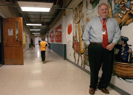 Ted Moore, superintendent of  Lovejoy ISD in Collin County, once presented to the Texas Association of School Boards a slide show on how to neutralize school district critics. DallasNews.com Watchdog Dave Lieber shares the slide show -- with commentary. In this 2008 photo, Moore poses at Lovejoy Elementary School.
