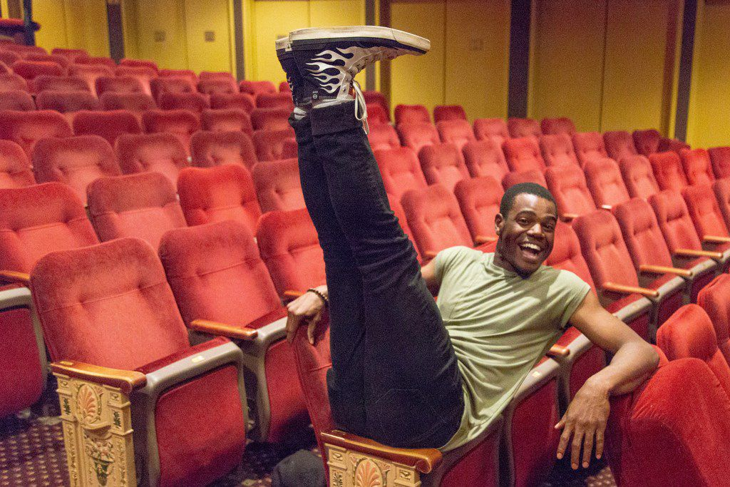 Ahmad Simmons, an alumnus of the Fort Worth Academy of Fine Arts, in the seats of Rodgers & Hammerstein's Carousel, one of the 2018 Tony nominees for best revival of a musical, at the Imperial Theatre on Broadway.