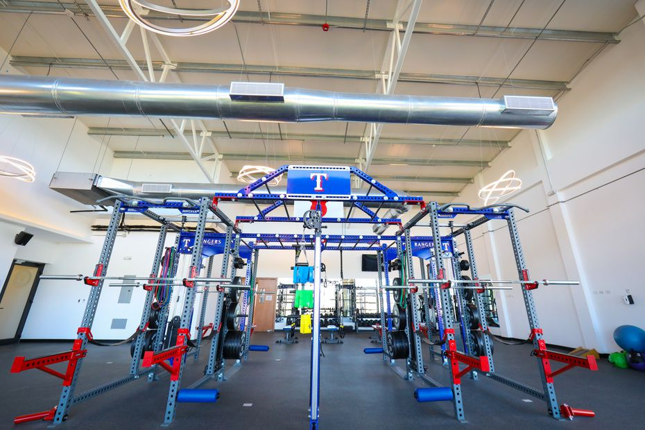 A look inside the weight room in the Texas Rangers' new $12.5 million baseball academy located in Boca Chica, Dominican Republic. (Kelly Gavin/Texas Rangers Baseball Club)(Kelly Gavin)