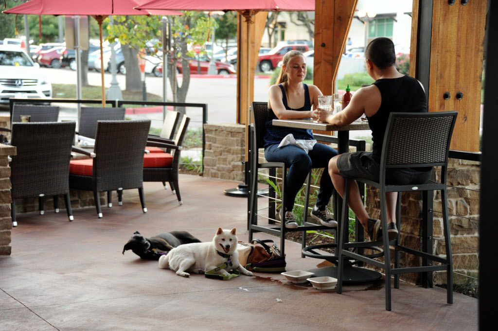 Several restaurants and bars in Frisco have dog-friendly patios.