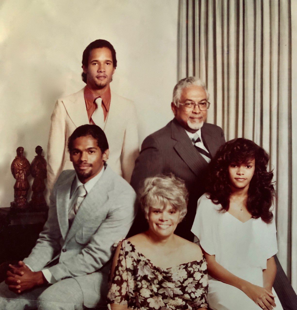 The Brooks family poses for a photo in 1978. The author, Michael Brooks, is in the back left. His father, Dr. Donald Brooks, is back right. Front row, left to right, is older brother Ralph Brooks, mother Gloria Brooks, and sister Gloria Anne Brooks.