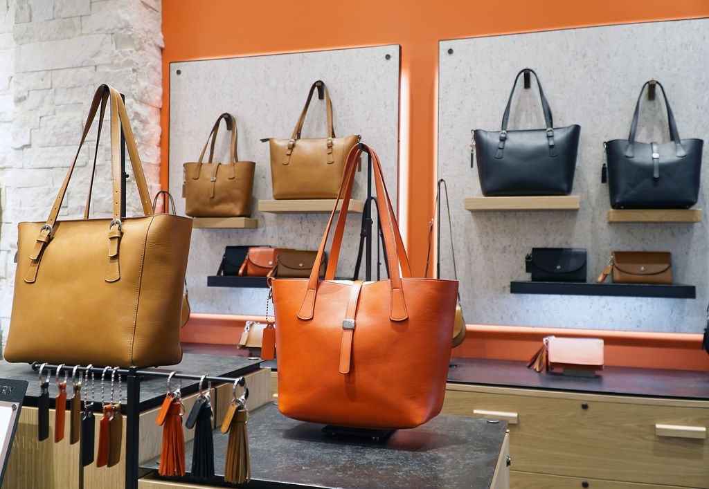 The leather handbags are one of the new products at James Avery at NorthPark Mall in Dallas, Texas on Tuesday, November 5, 2019.  (Lawrence Jenkins/Special Contributor)