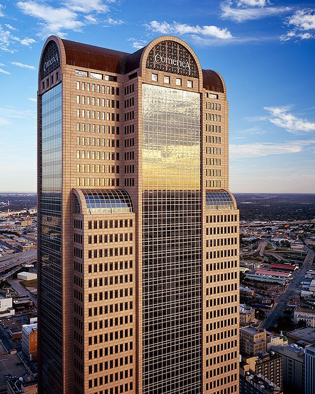 Comerica Bank Tower is one of downtown Dallas' largest buildings.