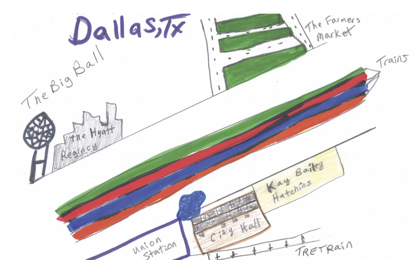 'Cartographic Gestures' is a collection of maps of Dallas drawn by different residents. The project was organized by Make Art with Purpose.