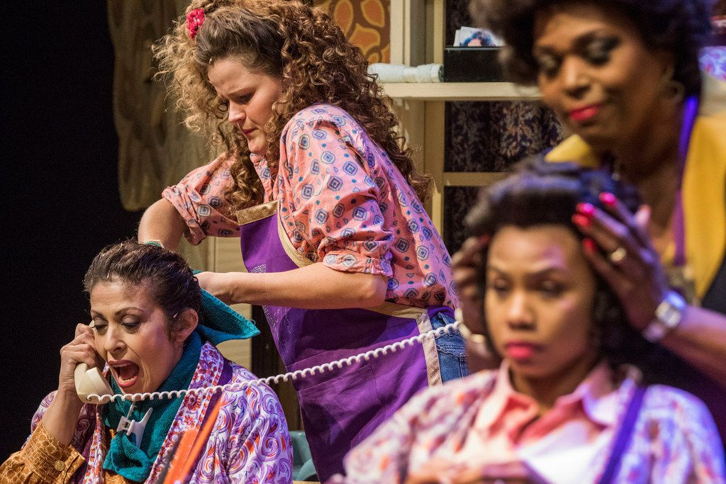 The cast of Dallas Theater Center's production of Steel Magnolias includes (from left) Christie Vela, Ana Hagedorn, Tiana Kaye Blair and Liz Mikel.