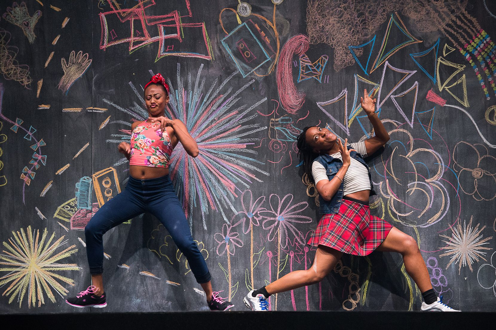 Fana Fraser and Beatrice Capote of Camille A. Brown & Dancers in the choreographer's BLACK GIRL: Linguistic Play will open the TITAS season in August.