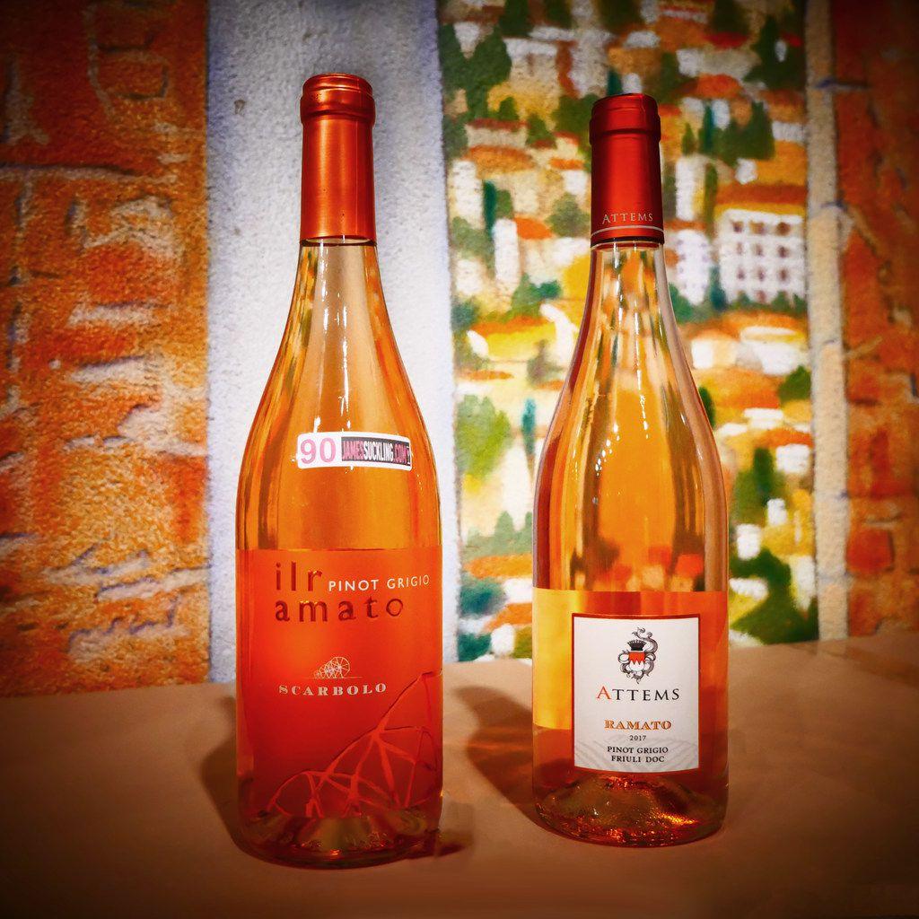 Scarbolo 'il ramato' Pinot Grigio and Attems 'Ramato' Pinot Grigio are ramato wines, pinot grigio in ros  form.