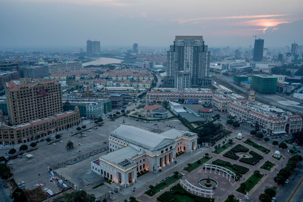 Chinese developments are changing the skyline of Phnom Penh.