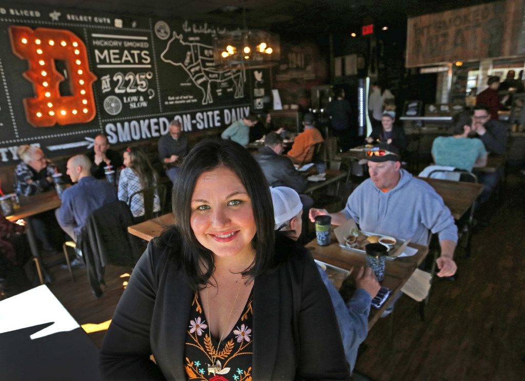 Laura Rea Dickey, CEO of Dickey's Barbecue Restaurant, is pictured at the remodeled prototype of the barbecue restaurant on Wycliff Ave. in Dallas, photographed on Thursday, February 9, 2017. (Louis DeLuca/The Dallas Morning News)