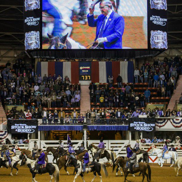 The Fort Worth Stock Show and Rodeo takes place inside the historic 1936 Will Rogers Coliseum.