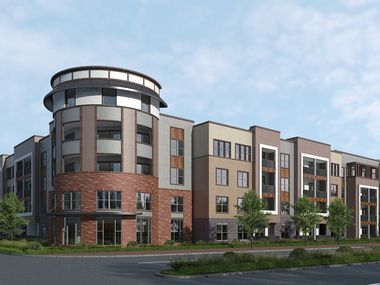 A rendering of the Sutherland apartment complex, to be built at 1658 S. Forum Drive in Grand Prairie.