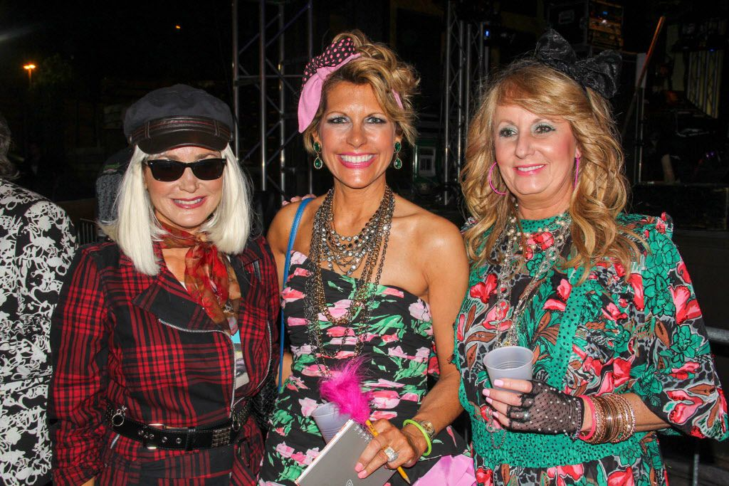 Britt Harless, Dawn Mellon and Melissa Rountree attended the #TBT to the '80s party on Thursday at the Rustic.