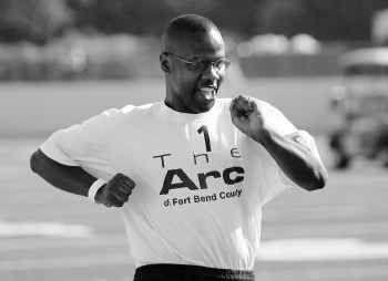 Allan Harris Jr. of Keller placed first in his 100-meter-dash class at UTA's Maverick Stadium on Sunday.