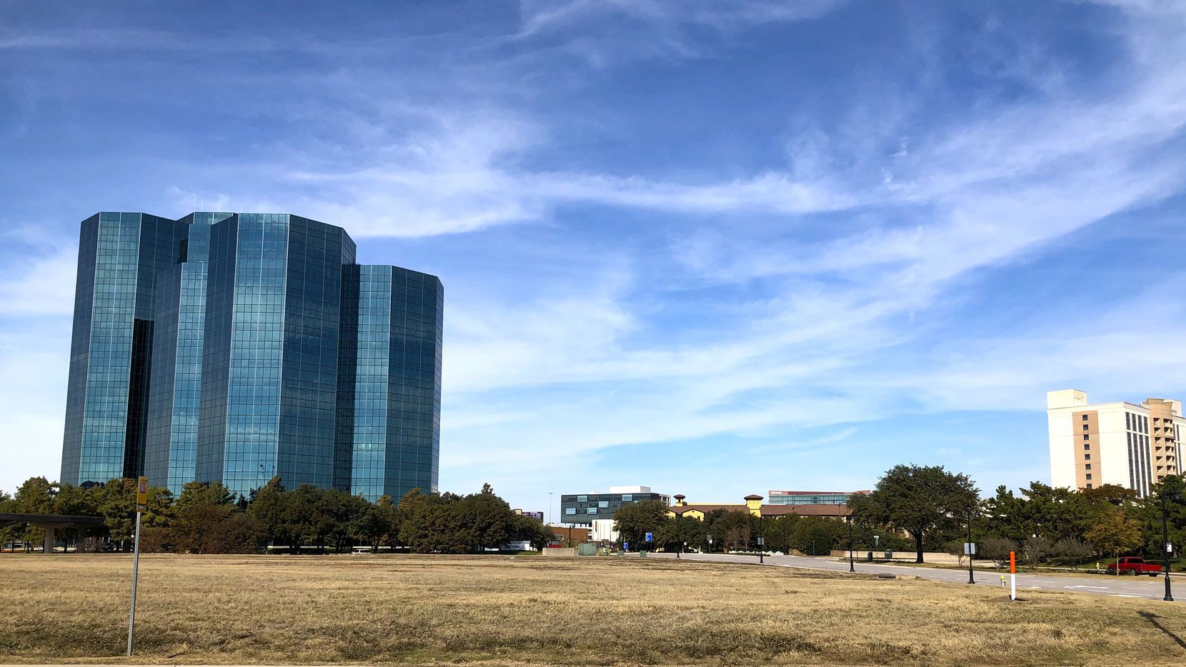 The more than 5-acre site is at O'Connor and Las Colinas boulevards.