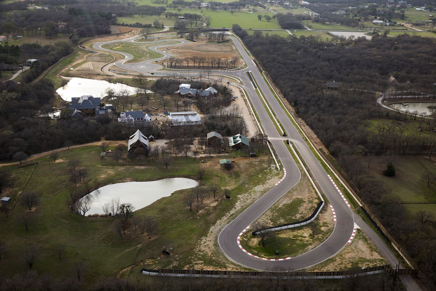 The site of the Toyota executive retreat in Denton County includes a racetrack and buildings between Hilltop Road and FM1830 on the outskirts of Argyle.