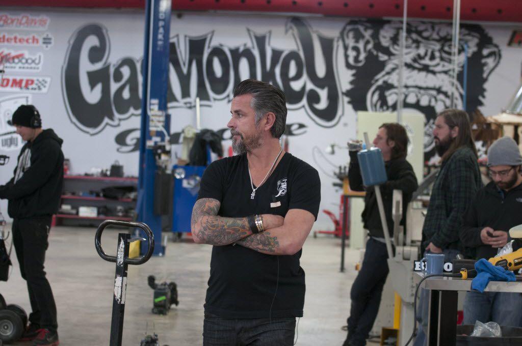 Richard Rawlings at his Gas Monkey Garage in Dallas.