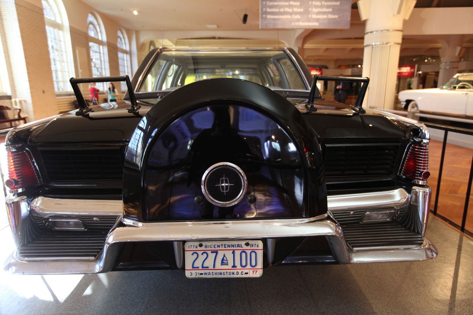 The Henry Ford Museum in Dearborn, Mich., displays the customized 1961 Lincoln Continental four-door convertible the president was riding in when he was assassinated.