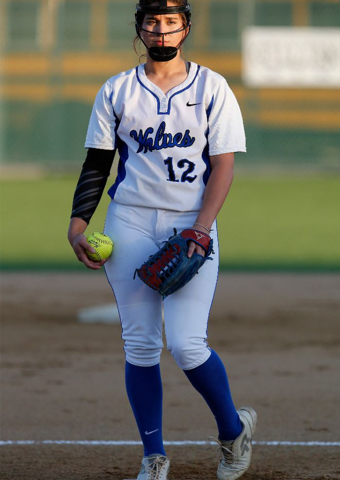 Plano West pitcher Sierra Lange is 10-2 with a 0.68 ERA for the area's top-ranked 6A team. (Stewart F. House/Special Contributor)