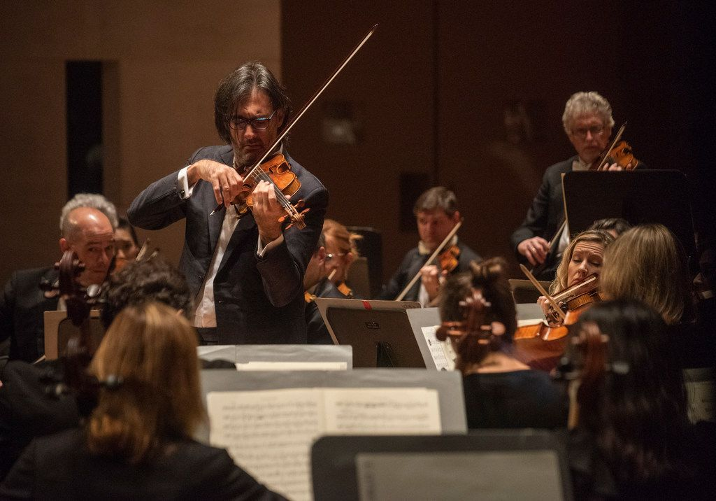 Violinist Leonidas Kavakos performs Mozart's Turkish Violin Concerto in A major with the Dallas Symphony Orchestra at the Meyerson Symphony Center on Thursday, Oct. 25, 2018.