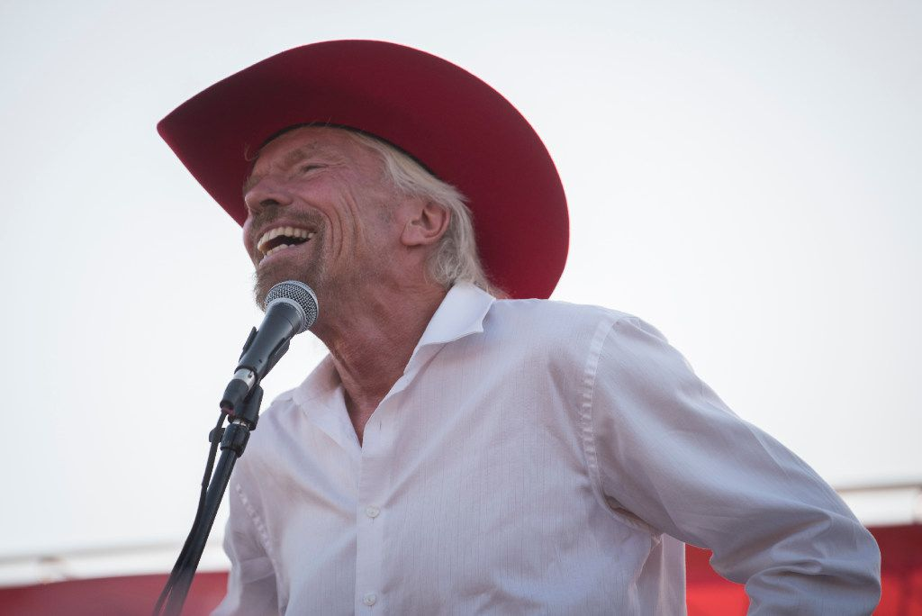 Richard Branson address the crowd attending the ground breaking for his Virgin Hotel in the Design District on Monday, Oct. 17, 2016   (Rex C. Curry/Special Contributor)