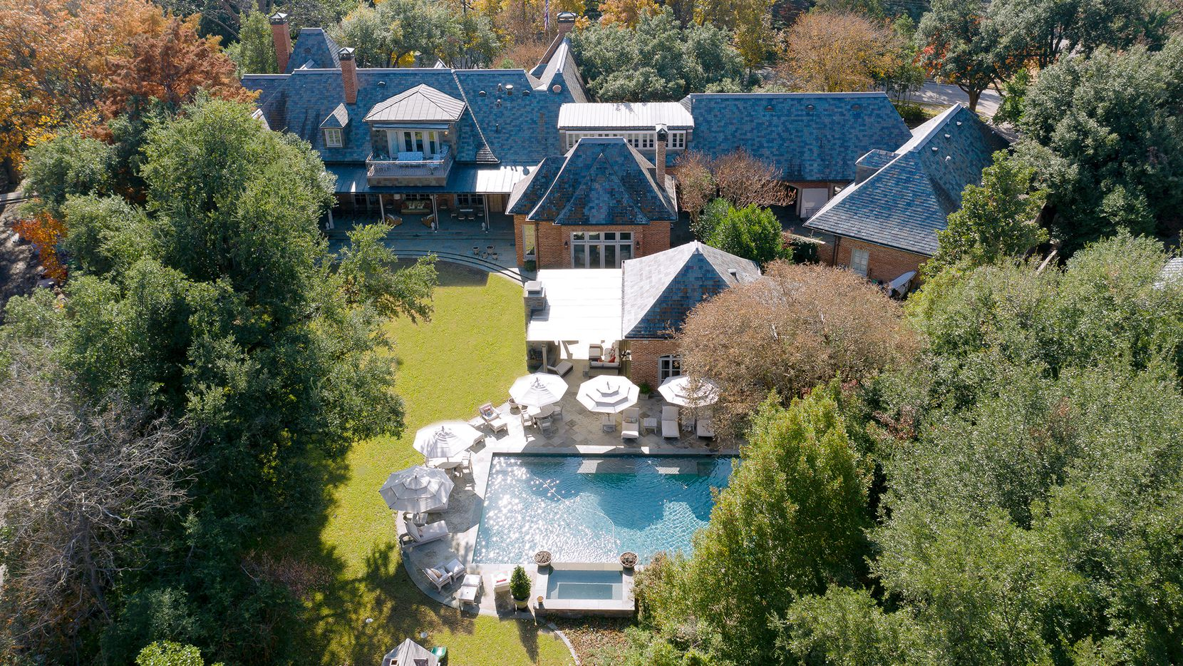 The 11,794-square-foot estate at 6800 Hunters Glen Drive in Volk Estates is offered for $14,950,000.