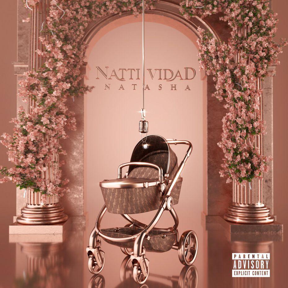 """En esta imagen cortesía de Pina Records, la portada de """"NattiVidad"""", el nuevo álbum de Natti Natasha que sale a la luz el viernes."""