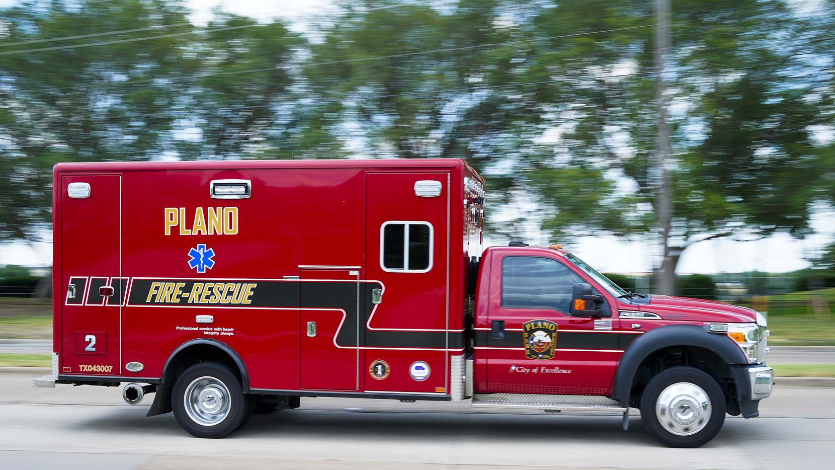 A Plano Fire-Rescue abmbulance transports a person from Arbor Hills Memory Care Community  on Monday, June 15, 2020, in Plano, Texas.