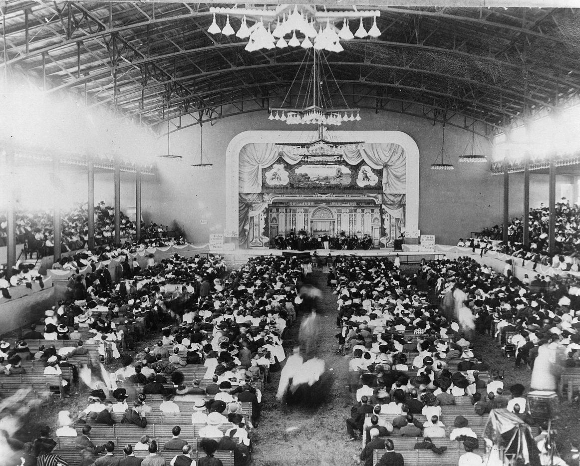 The Old Auditorium at the State Fair of Texas, early 1900's.